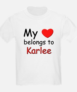 My heart belongs to karlee Kids T-Shirt
