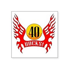 "wings40 Square Sticker 3"" x 3"""