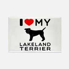 I Love My Dog Lakeland Terrier Rectangle Magnet (1