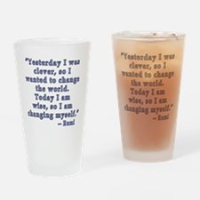 Rumi Quote on Change Drinking Glass