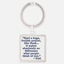 Rumi Quote about Self Confidence Square Keychain