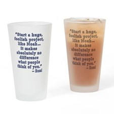 Rumi Quote about Self Confidence Drinking Glass