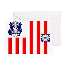 USCG-Flag-Ensign Greeting Card