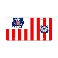 USCG-Flag-Ensign Aluminum License Plate