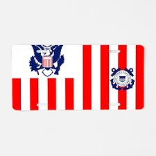 USCG-Flag-Ensign Aluminum License Plate