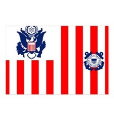 USCG-Flag-Ensign Postcards (Package of 8)