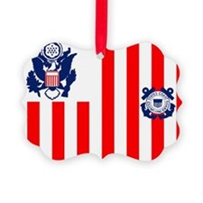 USCG-Flag-Ensign-Outlined Ornament