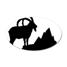 ibex 35x21 Oval Wall Decal
