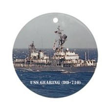 gearing note card Round Ornament