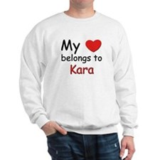 My heart belongs to kara Sweater