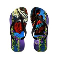 Storm At Sea Couple Art-zzzff-bhr-c-x 9 Flip Flops