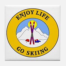 skiing3 Tile Coaster