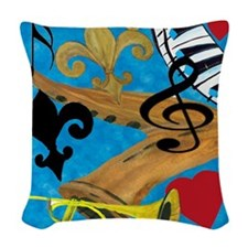 Jazz Woven Throw Pillow