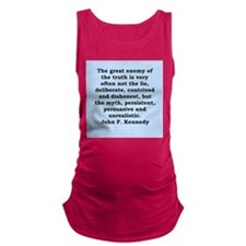 john f kennedy quote Maternity Tank Top