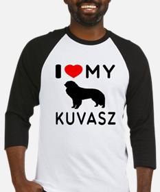 I Love My Dog Kuvasz Baseball Jersey