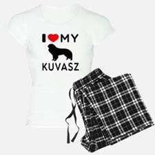 I Love My Dog Kuvasz Pajamas