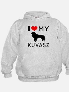 I Love My Dog Kuvasz Hoodie