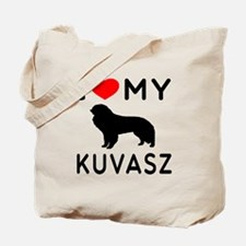 I Love My Dog Kuvasz Tote Bag