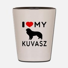 I Love My Dog Kuvasz Shot Glass