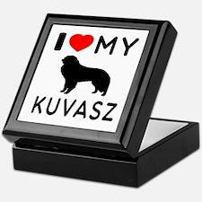 I Love My Dog Kuvasz Keepsake Box