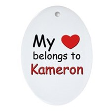 My heart belongs to kameron Oval Ornament