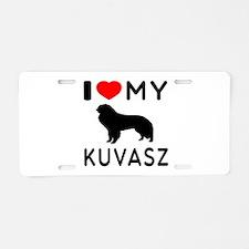 I Love My Dog Kuvasz Aluminum License Plate