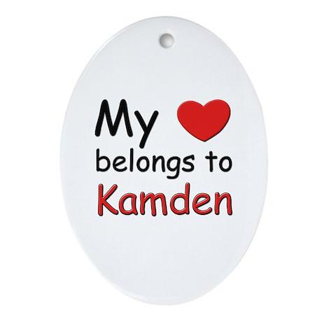 My heart belongs to kamden Oval Ornament