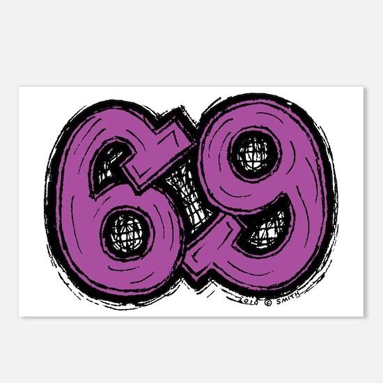 2-69_purple Postcards (Package of 8)