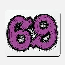 2-69_purple Mousepad