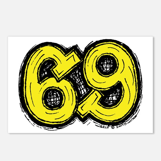 2-69_yellow Postcards (Package of 8)