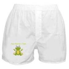 Custom Cartoon Frog Boxer Shorts
