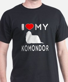 I Love My Dog Komondor T-Shirt