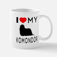 I Love My Dog Komondor Mug