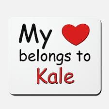 My heart belongs to kale Mousepad