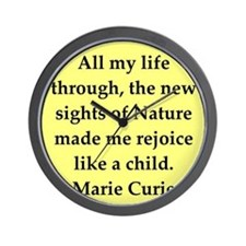 curie6.png Wall Clock