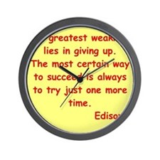 edison12.jpg Wall Clock