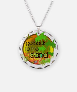 Lost Back to the Island Necklace Circle Charm