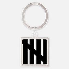 line_five Square Keychain