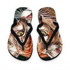 Panther Pillow Flip Flops