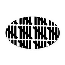 line_sixty Oval Car Magnet