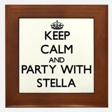 Keep Calm and Party with Stella Framed Tile