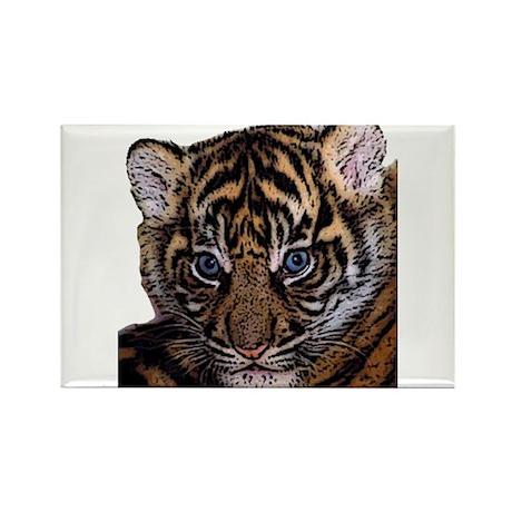 Tiger Cub Rectangle Magnet (100 pack)