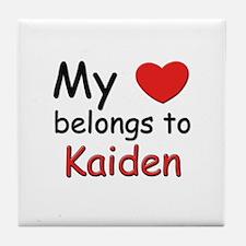 My heart belongs to kaiden Tile Coaster