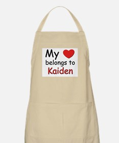 My heart belongs to kaiden BBQ Apron