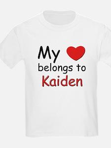My heart belongs to kaiden Kids T-Shirt