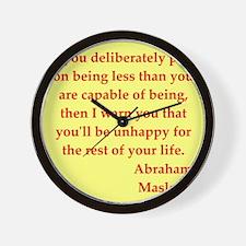 maslow3.jpg Wall Clock