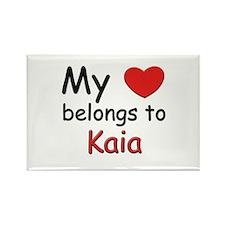 My heart belongs to kaia Rectangle Magnet
