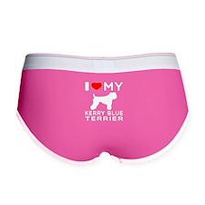 I Love My Kerry Blue Terrier Women's Boy Brief