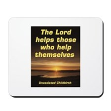Lord helps those Mousepad