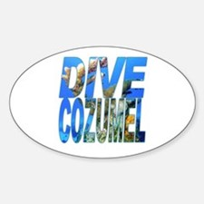 Dive Cozumel Oval Decal